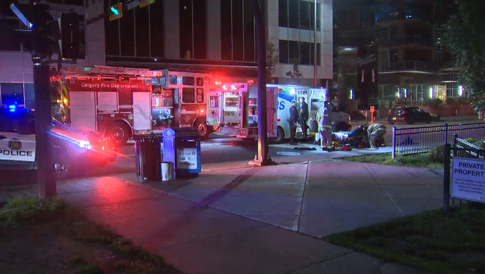 Emergency crews on the scene of Friday morning's collision in the Beltline