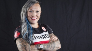 Canadian Olympic athlete Kaillie Humphries poses for a photo at the Olympic Summit in Calgary, Alta., Saturday, June 3, 2017. THE CANADIAN PRESS/Jeff McIntosh