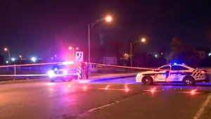 A man in his mid-30s is in critical condition following a car crash in Longueuil on the morning of Fri., Sept. 13, 2019.