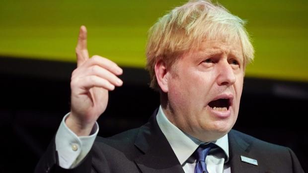 Britain's Prime Minister Boris Johnson speaks