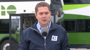 Conservative Leader Andrew Scheer makes an election announcement.