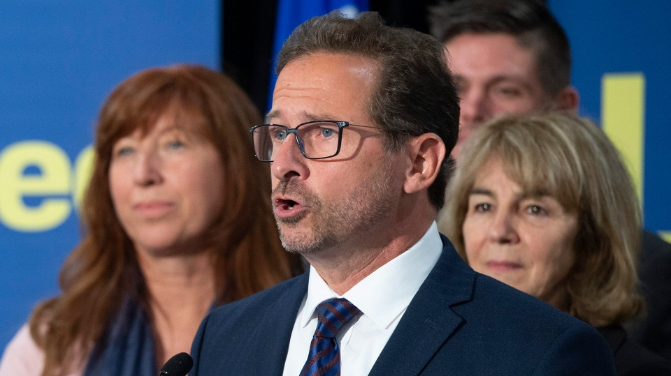 Bloc Quebecois Leader Yves-Francois Blanchet responds to reporters questions at a news conference to comment the launch of the federal election Wednesday, September 11, 2019 in Quebec City. THE CANADIAN PRESS/Jacques Boissinot