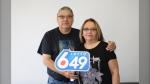 William and Margaret Dumas celebrate Lotto 6/49 win (Supplied photo)