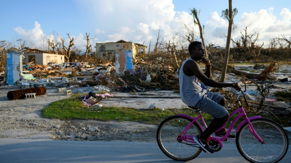 Tropical storm warning issued for hurricane-hit Bahamas