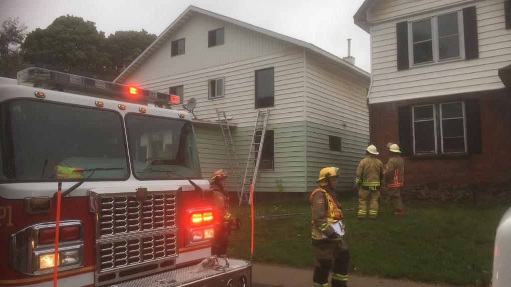 House fire on Wellington Street East in the Soo