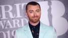 This Feb. 20, 2019, file photo shows singer Sam Smith posing for photographers upon arrival at the Brit Awards in London. (Photo by Joel C Ryan/Invision/AP, File)