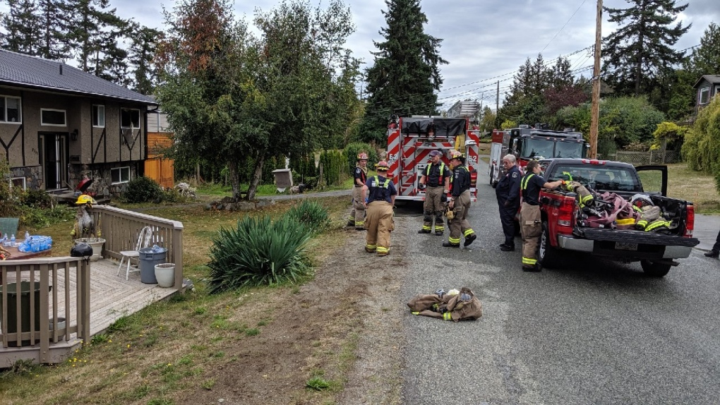 Child returns home from school to discover fire in North Saanich home