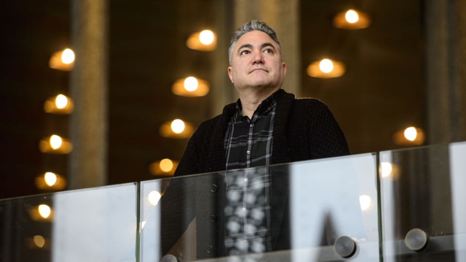 Canadian playwright Kevin Loring is pictured at the National Arts Centre in Ottawa on Thursday, April 18, 2019. THE CANADIAN PRESS/Sean Kilpatrick