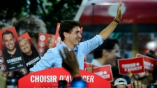 Liberal Leader Justin Trudeau attends a rally in Montreal, Que., on Friday, Sept. 13, 2019. THE CANADIAN PRESS/Sean Kilpatrick