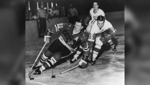 Stan Mikita and Ted Lindsay