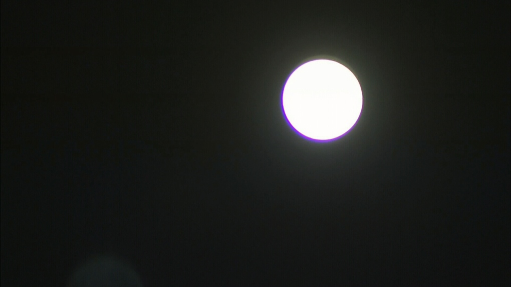 Unique Harvest Moon shines bright Friday night