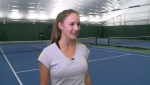 While Bianca Andreescu triumphed at the U.S. Open, 16-year-old Quebec player Melodie Collard made a name for herself in the Junior division. (CTV)