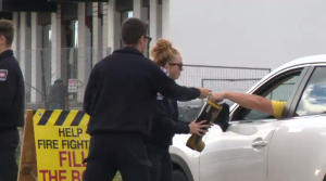 Firefighters collect money for the 'Fill the Boot' fundraiser for MD. (Sept. 14, 2019)