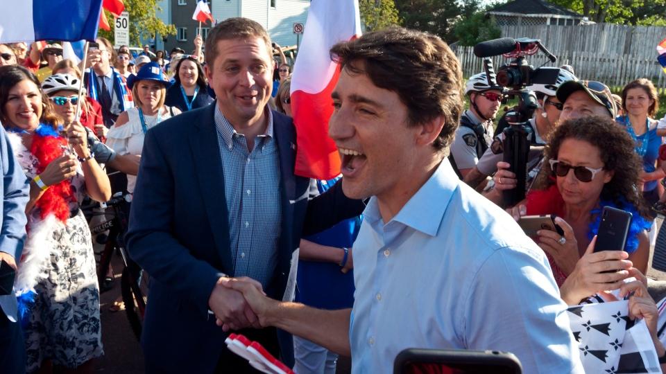 Trudeau and Scheer