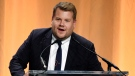 Comedian James Corden addresses the audience at the 2019 Hollywood Foreign Press Association's Annual Grants Banquet at the Beverly Wilshire Hotel, Wednesday, July 31, 2019, in Beverly Hills, Calif. (Photo by Chris Pizzello/Invision/AP)