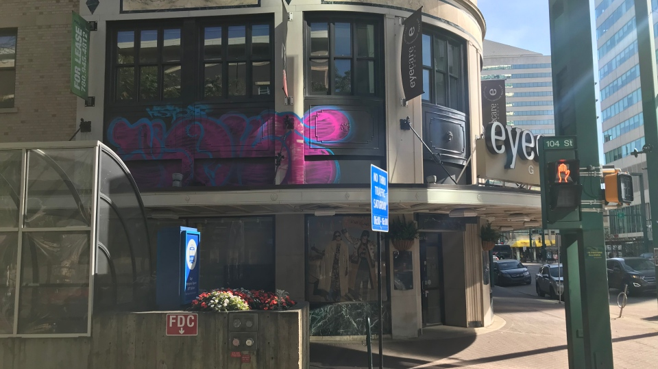 Birks Building vandalized