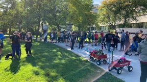 Nearly 400 people participated in the annual Terry Fox Run in Regina on September 15, 2019.
