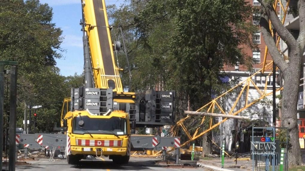 Crane dismantling not speeding up despite province's involvement