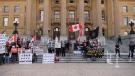 Hong Kong protest Alberta legislature
