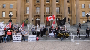 Hong Kong protest Alberta legislature