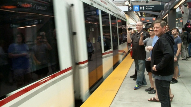 LRT a hit with passengers on Day 2