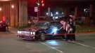 Two cars and a bike were involved in a collision near Saint-Michel Blvd. in Montreal Sept. 15.