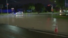 A water main break temporarily closed the intersection of Lacordaire and Leger Boulevards early Monday morning in Montreal North.