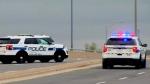 The scene of a double shooting in Brampton is seen. (CTV News Toronto)
