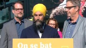 NDP Leader Singh speaking