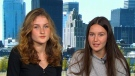 Big-hearted Montreal students Pasha Jones and Adrianna Vutrano have created a potentially life-saving mobile shelter for the homeless after one of the girl's uncles died on the streets.(CTV)