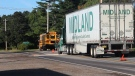 Transport truck collides with school bus in N.S.