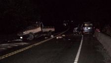 Police were investigating Sunday whether speed and alcohol were factors in the collision. (CTV Vancouver Island)