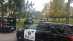 CPS units on the University of Calgary campus during a suspicious person investigation