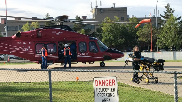 STARS ambulance Morinville Crash