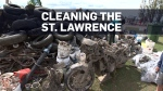 Divers remove four tons of trash from the St. Lawr