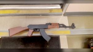 Papier-mache rifle