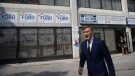 Maxime Bernier, the Leader of the People's Party of Canada, walks from candidate Renata Ford's campaign office in Etobicoke, Ontario, after a media availability on Wednesday September 11, 2019. THE CANADIAN PRESS/Chris Young