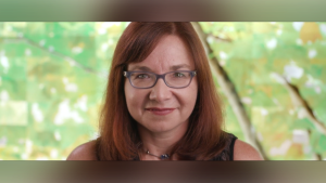 Katharine Hayhoe is seen in this promotional video for the 2019 UN Champions of the Earth video (UN Environment on YouTube)