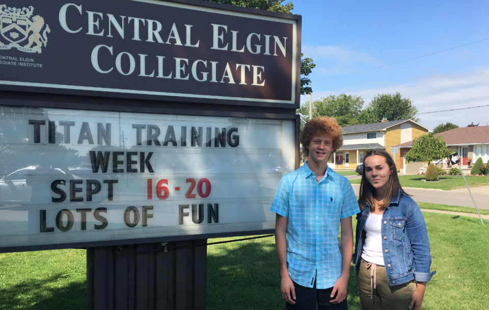 Clark Renaud and India Parker of Central Elgin