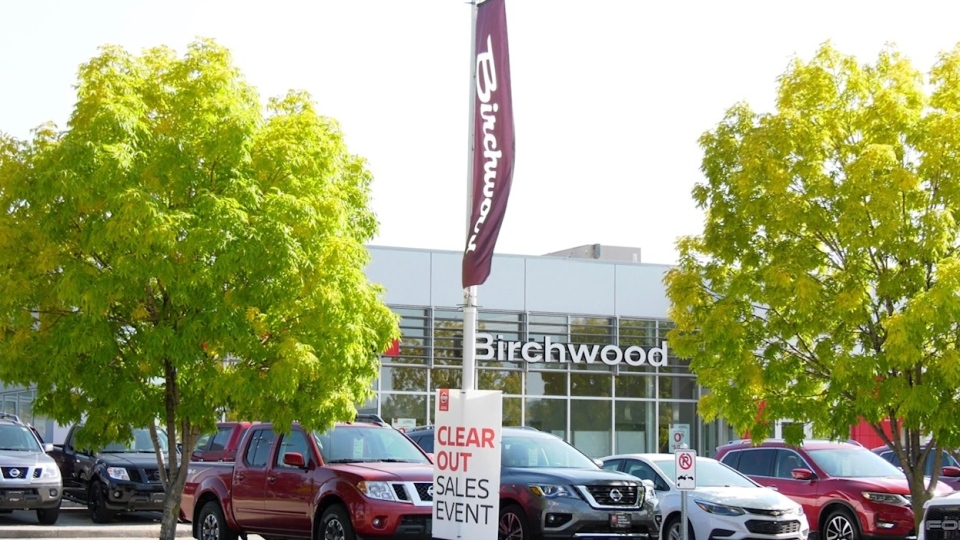 Birchwood Automotive Group president and CEO Steve Chipman told CTV News the work wasn't by Birchwood.