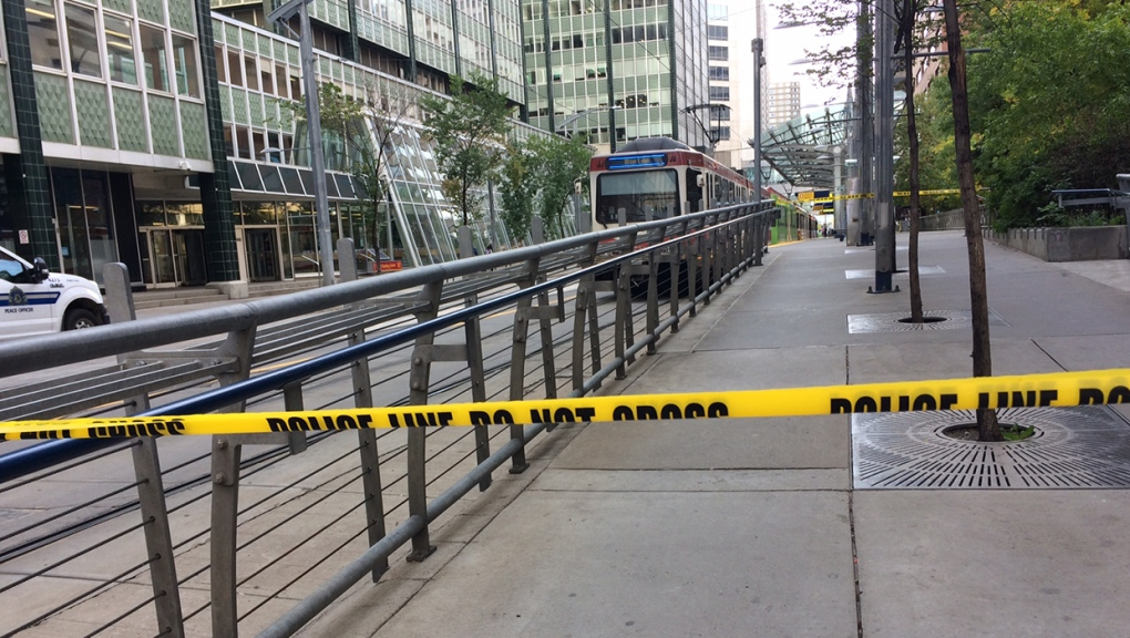 A person has been taken to hospital with life threatening injuries following an incident on the CTrain line downtown Monday afternoon