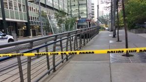 C Train incident downtown life threatening calgary
