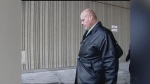 Former Elgin-Middlesex Detention Centre guard Leslie Lonsbary is seen outside the courthouse in London, Ont. in this file photo.