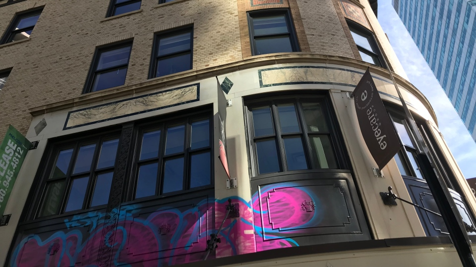 Birks Building graffiti