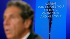 In this Sept. 9, 2019 file photo, New York Governor Andrew Cuomo speaks at a news conference about vaping and health concerns in New York. (AP Photo/Seth Wenig, File)