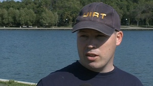 Cpl. Colin Magee speaks to CTV News as part of the Regina Police Service Underwater Investigation and Recovery Team (UIRT) in September 2011. (File)