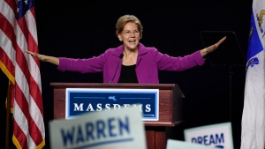 Democratic presidential candidate U.S. Sen. Elizabeth Warren, speaks to delegates during the 2019 Massachusetts Democratic Party Convention, Saturday, Sept. 14, 2019, in Springfield, Mass. (AP Photo/Jessica Hill)
