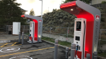 A gas station in Merritt, B.C. is being outfitted with electric vehicle charging stations. (Peter Bremner/CTV News)
