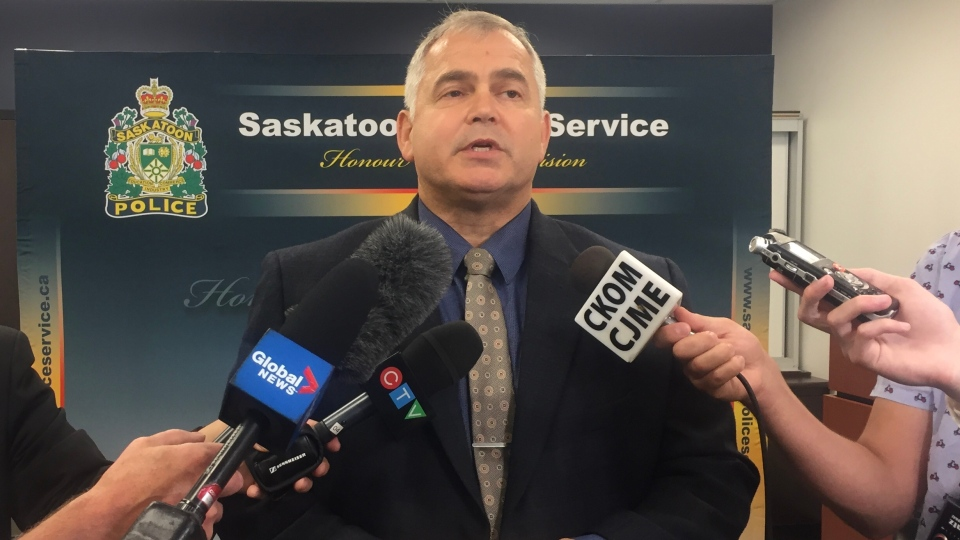 Supt. David Haye says nine overdoses over one week was enough for police to send out a public safety warning. (Daniel Shingoose/CTV Saskatoon)