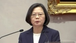 In this image made from video, Taiwanese President Tsai Ing-wen speaks at news conference at presidential office in Taipei, Monday, Sept. 16, 2019. (AP Photo)